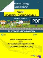 Presentasi Posbindu Puskesmas Arjowinangun