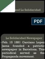 Rizal and La Solidaridad