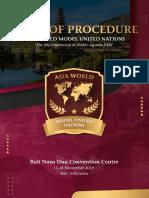 Rules of Procedure AWMUN III