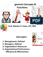 Management Concepts Functions