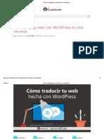 Cómo Crear Pagina Web Con WordPress en Dos Idiomas