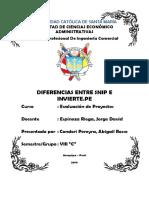 Diferencias Entre SNIP e Invierte.pe