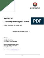Ordinary Agenda 16 October 2019