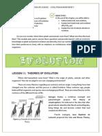 Evolution, Natural Selection & Biodiversity