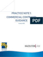 Commercial contractor guidance