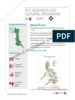 Policy Research Briefer on Eastern Samar Farmers' Access to Governmental Agricultural Programs