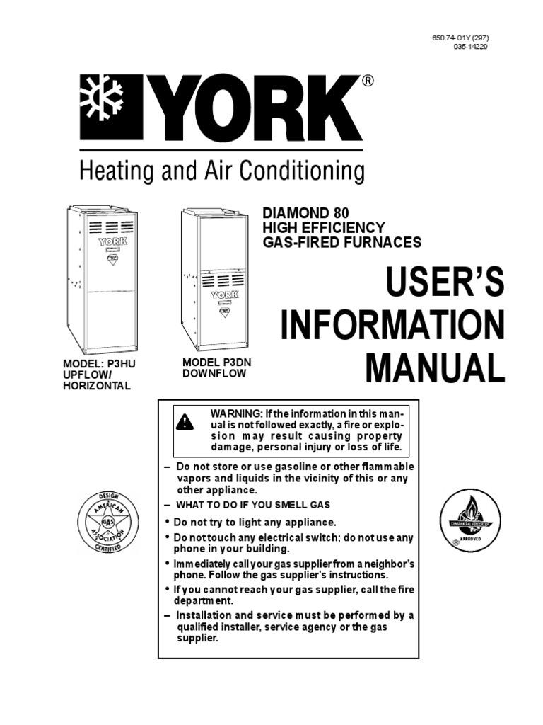 User'S Information Manual: Diamond 80 High Efficiency Gas