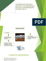 Analisis de la cadena de frio en el proceso de despacho de la distribuidora Mac pollo en Santa Marta
