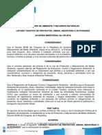 Ac. Gub. 199-2016 Listado Taxativo 2016
