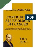 Contributo all'Eziologia del Cancro - Georges Lakhovsky - 1927.pdf