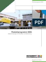 01 Produktprogramm2009