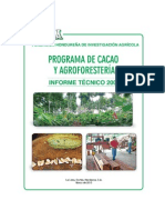 Cacao -FHIA Informe Tecnico Cacao Agroforesteria 2009