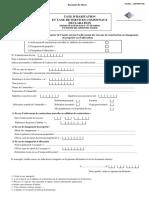 Formulaire de Déclaration de La TSC
