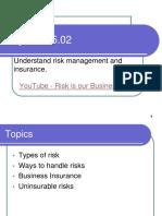 Risk in insurance
