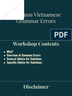 Common Vietnamese Grammar Mistakes