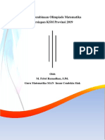 Modul Pembinaan Olimpiade Matematika MI