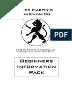 Beginners Info Pack