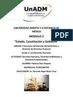Actividad 2. Derechos Humanos, Garantías Individuales y Derechos Fundamentales