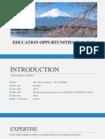 Education Oppurtunities in Japan