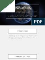 Intercultural Communications Lesson 1&2