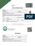 Print Test Permit