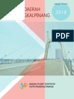 Statistik Daerah Kota Pangkalpinang 2018