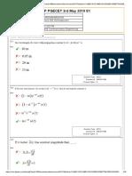 pgecet 2019 Response Sheet