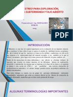 MUESTREO PARA EXPLORACIÓN, MINERÍA SUBTERRÁNEA Y TAJO.pptx