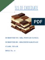 Analysis of Chocolate