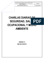 Charlas Diarias - Tale Constructora Docx