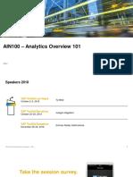 SAP TechED 2018 presentation