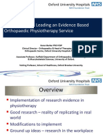 4. Karen Barker - Developing and Leading an Evidence Based Orthopaedic Physiotherapy Service - Copy