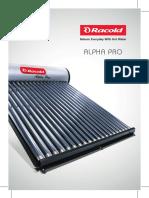Racold Alpha Pro Leaflet