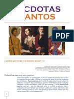 ANÉCDOTAS DE SANTOS + Por Dora María Montoya