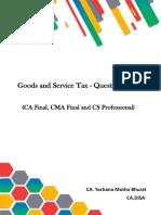 GST Question Bank- By CA Yachana Mutha Bhurat