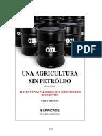 Una agricultura sin petróleo
