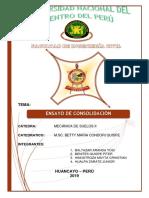 Informr de Suelos Ensayo de Consolidacion 2019