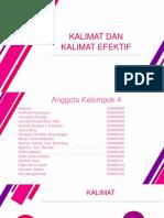 Ppt Kelompok 4 Bahasa Indonesia (Kalimat Dan Kalimat Efektif)