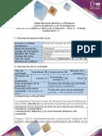 Guía de Actividades y Rúbrica de Evaluación. Paso 3-Trabajo Colaborativo 2