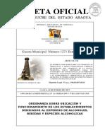 ORDENANZA MUNICIPAL DEL ESTADO ARAGUA MUNICIPIO SUCRE