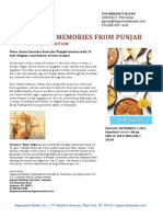 Menus & Memories from Punjab, 10th Anniversary edition press release