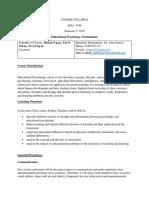 Syllabus Educational Psychology (Foundation)