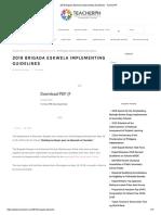 2019 Brigada Eskwela Implementing Guidelines - TeacherPH