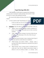 Nepal Marriage Bill 2011 b s