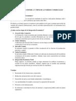 Integración Económica y Tipos de Acuerdos Comerciales