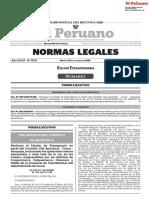 Declaran El Estado de Emergencia en Parte Del Corredor Vial Decreto Supremo n 169 2019 Pcm 1817320 1