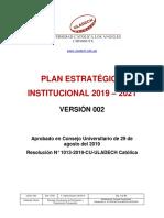Plan Estrategico Institucional 2019 2021