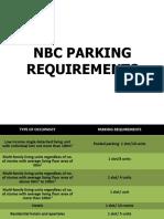 NBC PARKING REQUIREMENTS