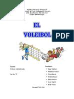 Trabajo de Deporte El Voleibol