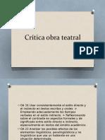 Crítica Obra Teatral